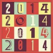 2014 New Year Poster — Stock Vector