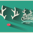 Merry Christmas Background with Typography — Stock Vector