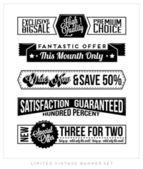 Ensemble de bannière des entreprises typographiques vintage rétro — Vecteur