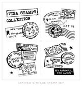 Set of Retro Vintage Typographic Business Banner — Stock Vector