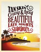 Retro Vintage Summer Poster — Vector de stock