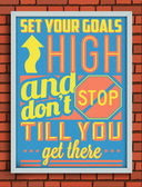 Retro Vintage Motivational Quote Poster — Stock Vector