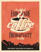 Fundo retro vintage café — Vetorial Stock