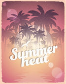 Retro Vintage Summer Poster — Stock Vector