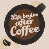 Старинный фон кофе — Cтоковый вектор