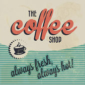 Retro starodawny kawy tło — Wektor stockowy