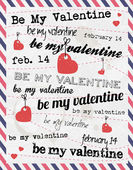 Valentines Stamps Background — Vecteur