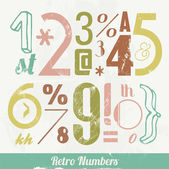 Various Vintage Number and Typography Collection — Stock Vector