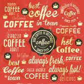 Retro vintage kahve arka plan — Stok Vektör