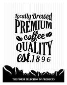 Kawa tło z typografią — Wektor stockowy