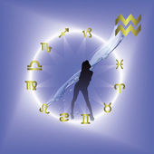 Horoscope circle — Stock Vector