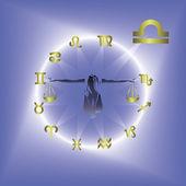Círculo de horóscopo — Vector de stock