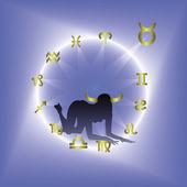 Horoscoop cirkel — Stockvector