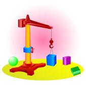 Toy crane — Stock Vector
