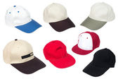 Collection of baseball caps — Stock Photo