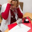 Stressed nurse — Stockfoto #37982565