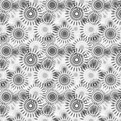 Black and white seamless abstract pattern — Stok Vektör