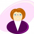 Illustration of a business woman — Stock Vector