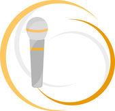 Illustration of microphone — Wektor stockowy