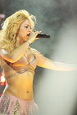 MINSK, BELARUS - MAY 20: Shakira performs at Minsk-Arena on May 20, 2010 in Minsk, Belarus. — Stock Photo