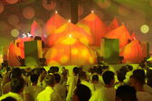 KIEV, UKRAINE - MAY 5: Sensation Innerspace show (ID&T) at the NEC on May 5, 2012 in Kiev, Ukraine — Foto de Stock