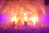 KIEV, UKRAINE - MAY 5: Sensation Innerspace show (ID&T) at the NEC on May 5, 2012 in Kiev, Ukraine — Photo