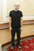 MINSK, BELARUS - JUNE 9: Moby at the press conference on June 9, 2011 in Minsk, Belarus — Stock Photo