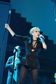 MINSK, BELARUS - FEBRUARY 13: Patricia Kaas performs live on February 13, 2010 in Minsk, Belarus — Stock Photo