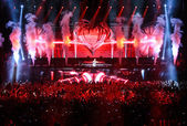 Members of ARMIN ONLY: Intense show with Armin van Buuren in Minsk-Arena on February 21, 2014 — Stock Photo