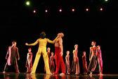 """Leden van de jevgeni panfilov ballet studio uit perm uitvoeren """"romeo and juliet"""" tijdens ifmc op 22 november 2013 in vitebsk, wit-rusland — Stockfoto"""