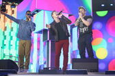 British band Blue perform at Slavyansky Bazar festival in Vitebsk on July 14, 2014, Belarus — Stock Photo