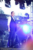 John Newman performs at 'Most festival' on July 3, 2014 in Milnsk, Belarus — Stock Photo