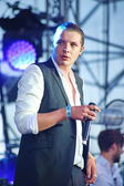 John Newman performs at 'Most festival' on July 3, 2014 in Milnsk, Belarus — Foto de Stock