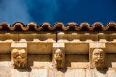 Architectural Details Of Hermitage San Bartolome. Soria. Spain — Stock Photo