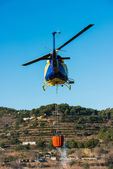Helicopter Flying — Stock Photo