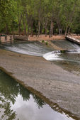 Weir On The River Júcar. Alcalá Del Jucar (Albacete). Spain — Stock Photo
