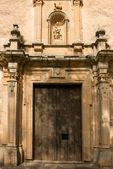 Church door Peñagolosa Sanctuary. Spain — Zdjęcie stockowe