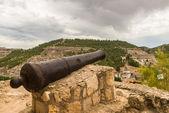 Old Cannon. Alcalá Del Júcar. Albacete. Spain — Stock Photo
