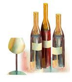 бутылки вина — Стоковое фото