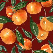 Tangerines seamless pattern — Stock Photo