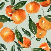 Tangerine seamless pattern — Stock Photo