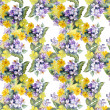 Primula Flowers Pattern — Stock Photo