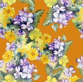 Bloemen gelast patroon — Stockfoto