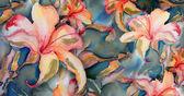 Seamless Lily Pattern — Stock Photo