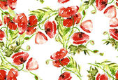 Poppies seamles Pattern — Foto de Stock