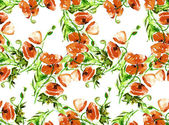 Poppies seamles Pattern — 图库照片
