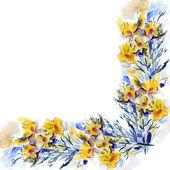 Gelbe Blumen-Muster — Stockfoto
