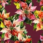 Poinsettias Seamless Pattern — Stock Photo #37939901