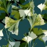 Gingko Seamles Pattern — Stock Photo #37943577