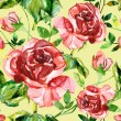 Red rose seamless pattern — Stock Photo